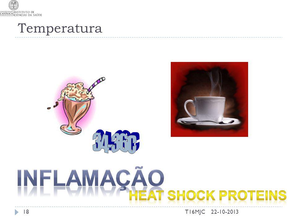 Temperatura 34-36C Inflamação Heat shock proteins T16MJC 22-10-2013