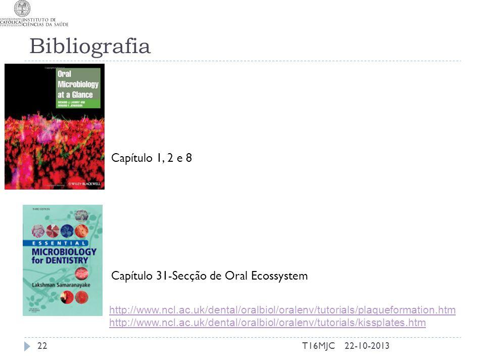 Bibliografia Capítulo 1, 2 e 8 Capítulo 31-Secção de Oral Ecossystem