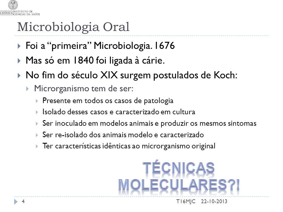 Técnicas Moleculares ! Microbiologia Oral