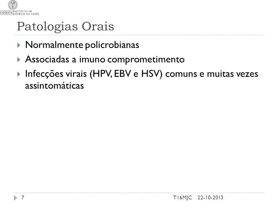 Patologias Orais Normalmente policrobianas