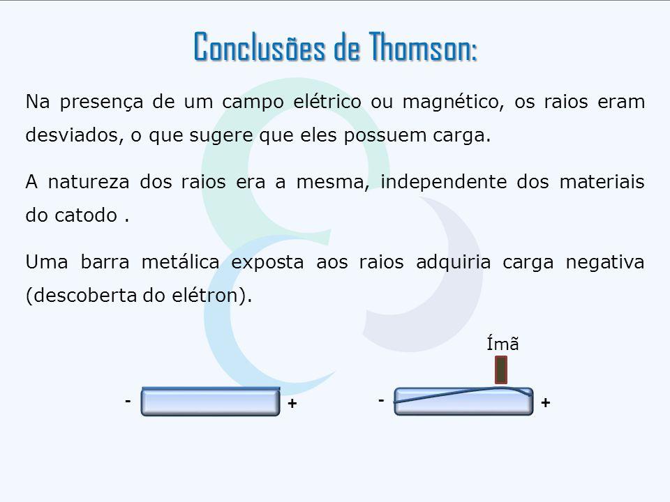 Conclusões de Thomson: