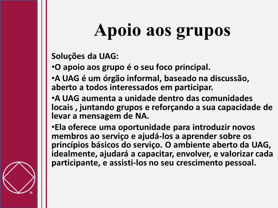 Apoio aos grupos Soluções da UAG: