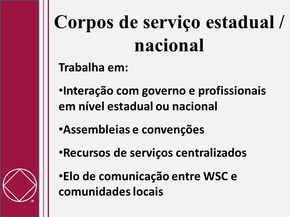 Corpos de serviço estadual / nacional