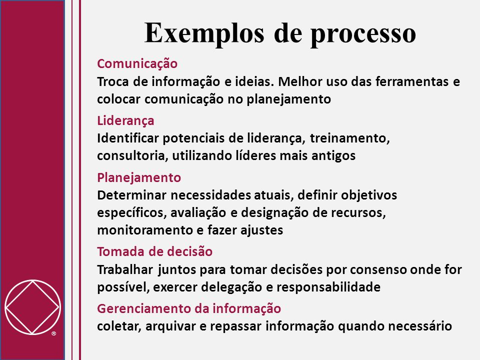 Exemplos de processo