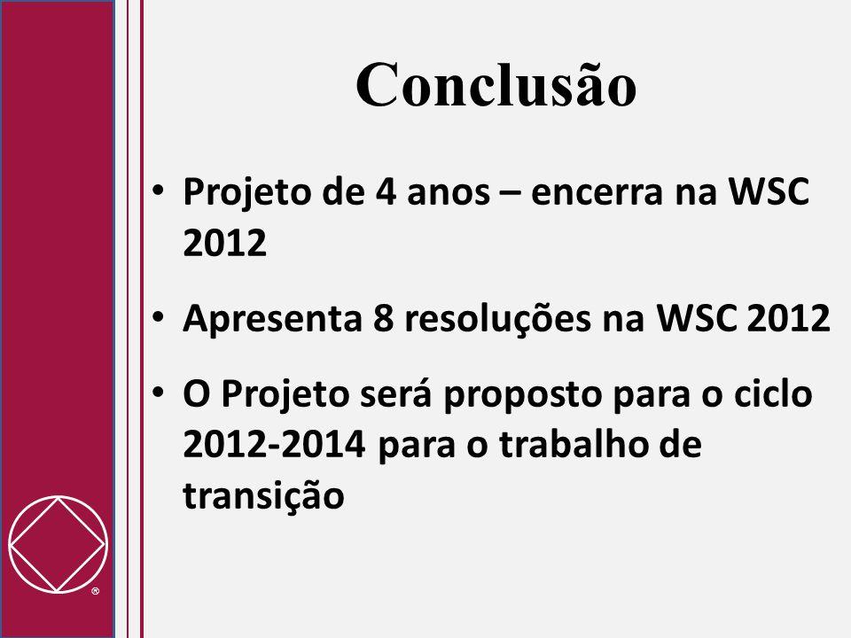 Conclusão Projeto de 4 anos – encerra na WSC 2012