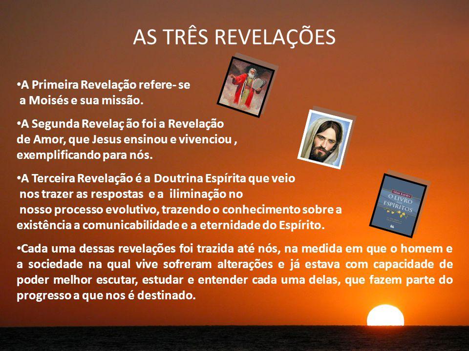 AS TRÊS REVELAÇÕES A Primeira Revelação refere- se