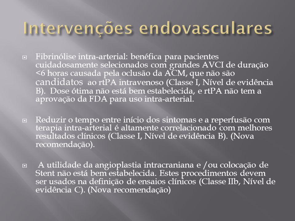 Intervenções endovasculares