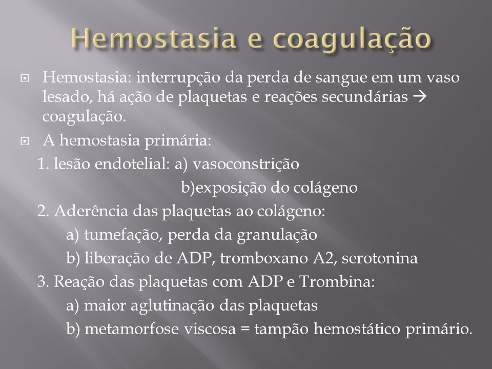 Hemostasia e coagulação