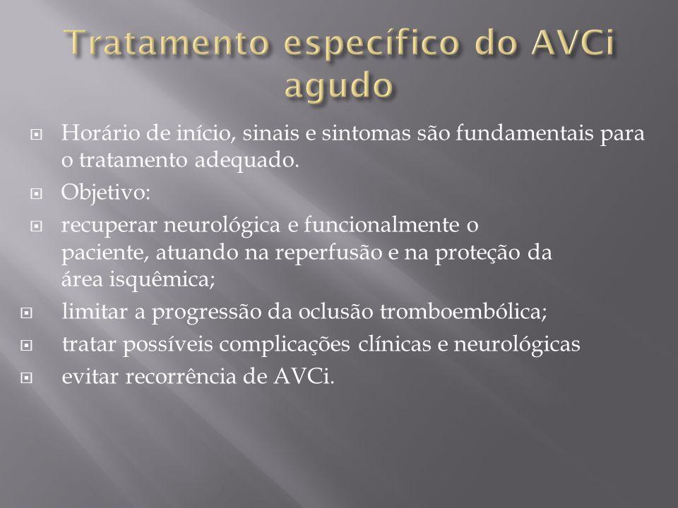 Tratamento específico do AVCi agudo