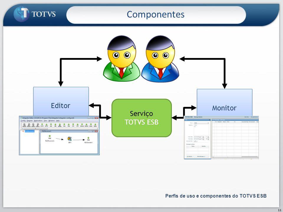 Componentes Editor Monitor Serviço TOTVS ESB