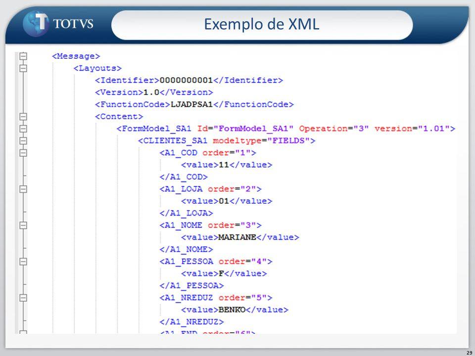 Exemplo de XML