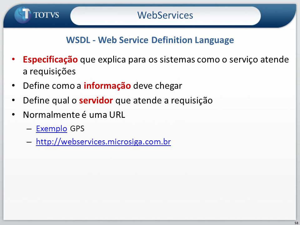 WSDL - Web Service Definition Language