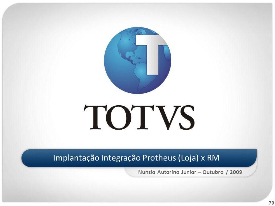 Implantação Integração Protheus (Loja) x RM