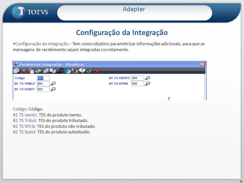 Configuração da Integração