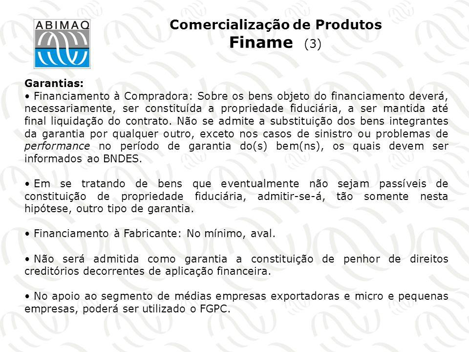 Comercialização de Produtos Finame (3)