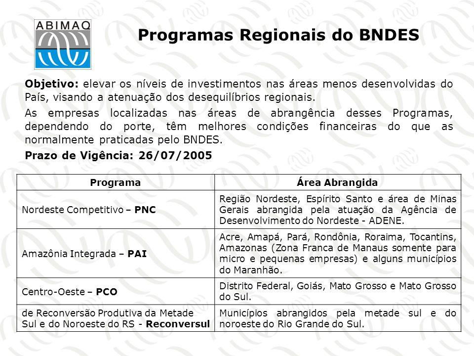 Programas Regionais do BNDES