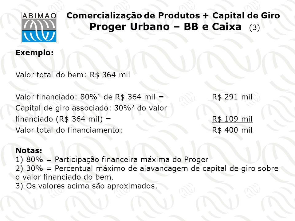 Comercialização de Produtos + Capital de Giro Proger Urbano – BB e Caixa (3)