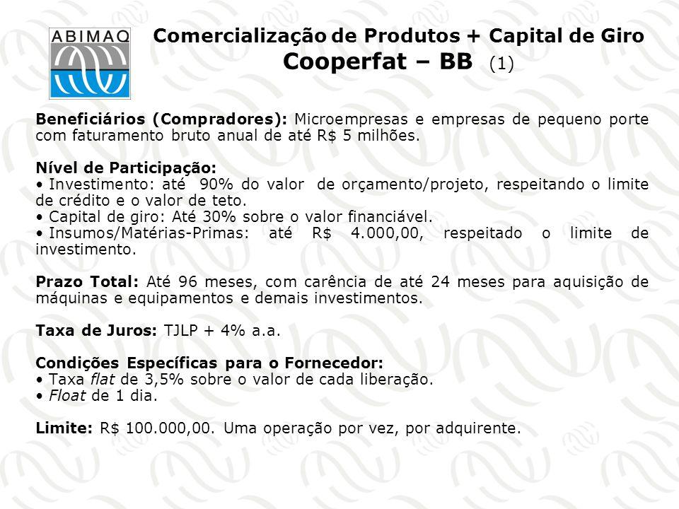 Comercialização de Produtos + Capital de Giro Cooperfat – BB (1)