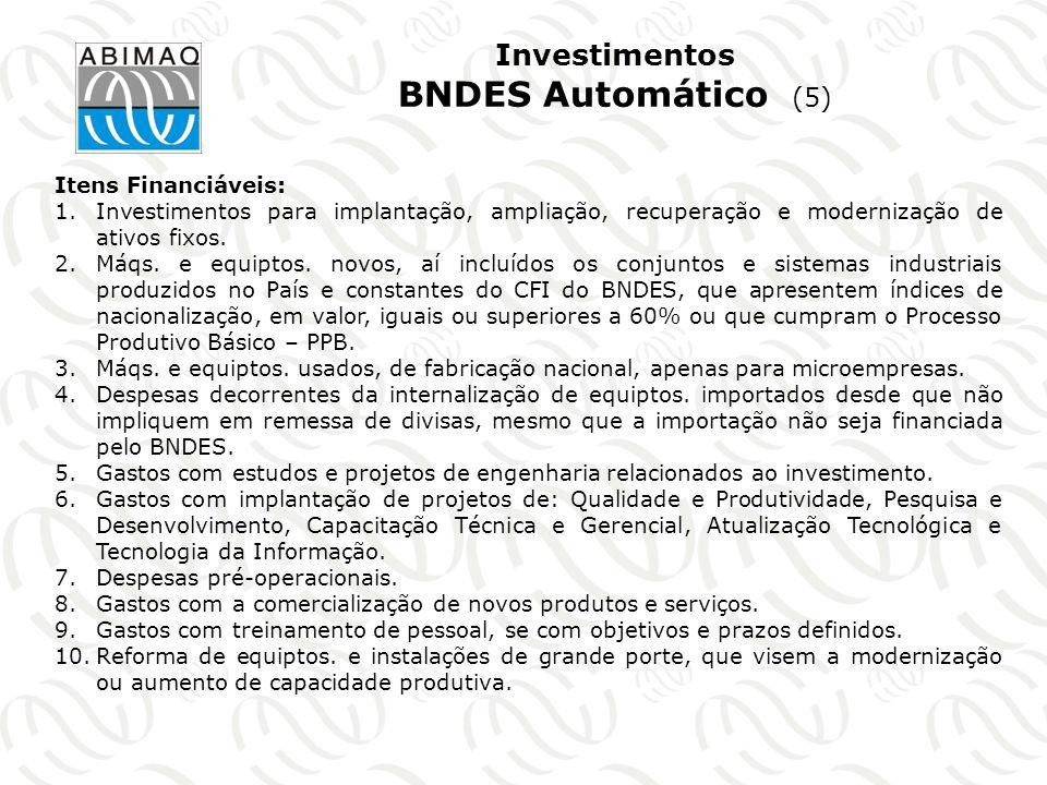 Investimentos BNDES Automático (5)