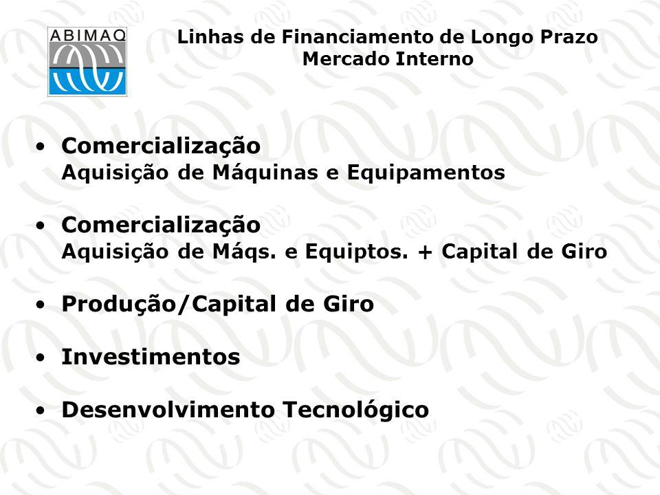 Linhas de Financiamento de Longo Prazo Mercado Interno