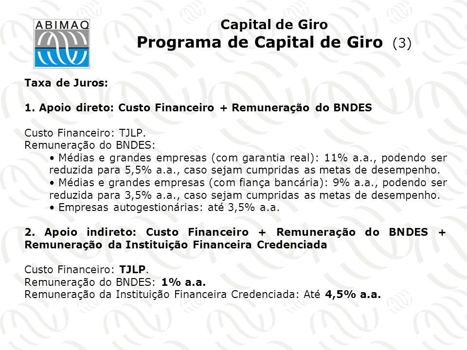 Capital de Giro Programa de Capital de Giro (3)