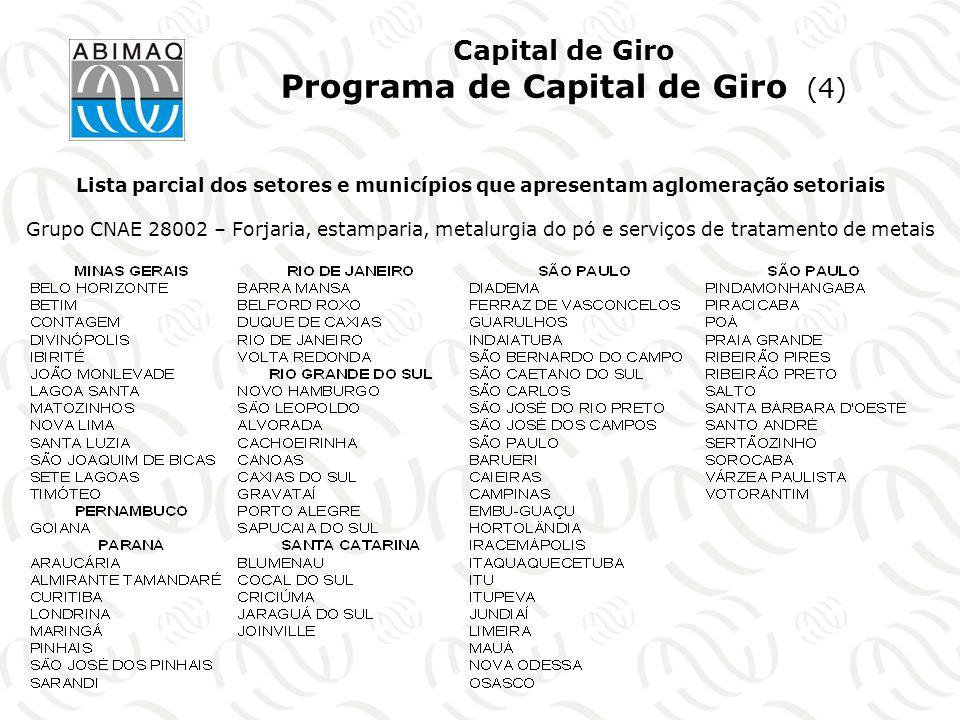 Capital de Giro Programa de Capital de Giro (4)