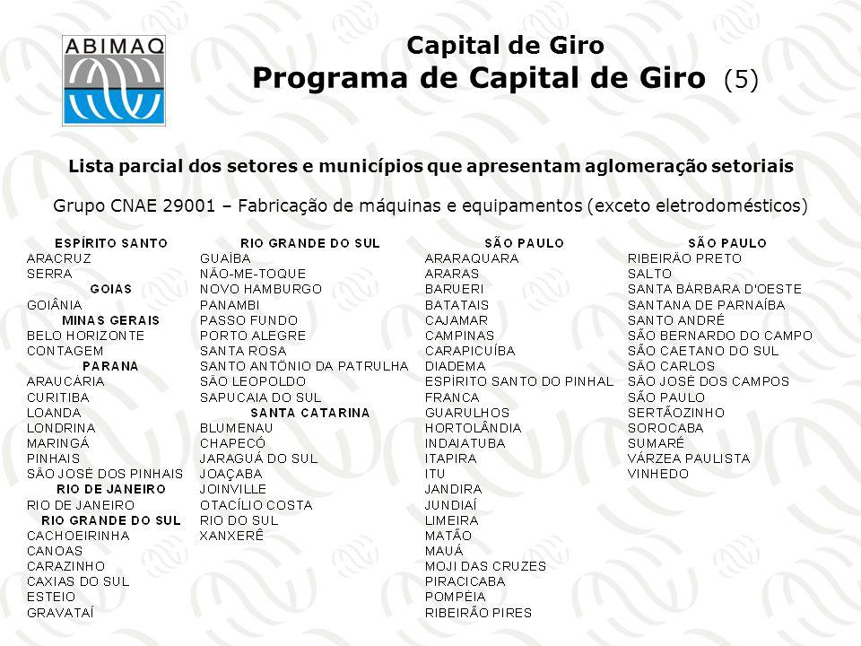 Capital de Giro Programa de Capital de Giro (5)