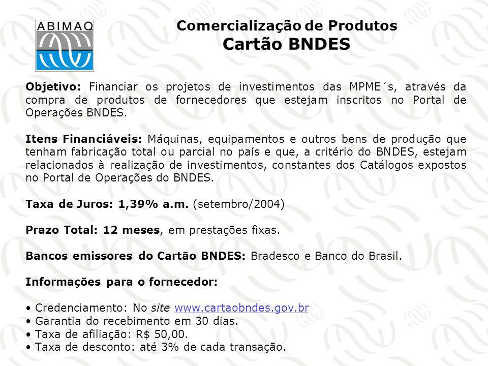 Comercialização de Produtos Cartão BNDES
