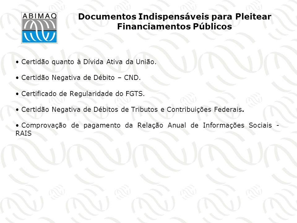 Documentos Indispensáveis para Pleitear Financiamentos Públicos
