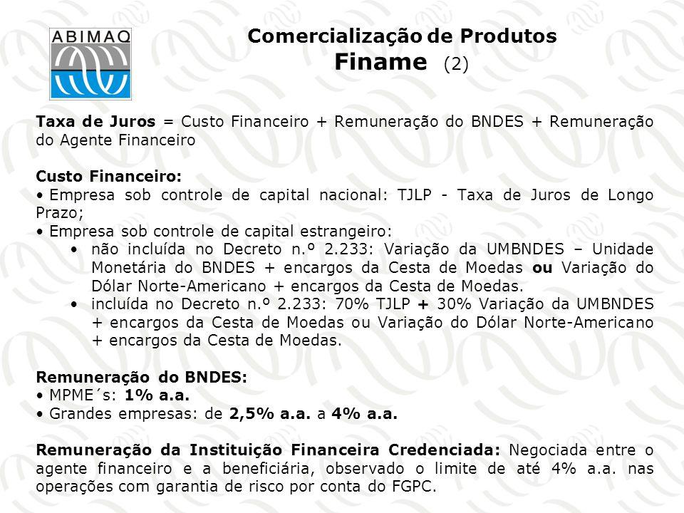 Comercialização de Produtos Finame (2)