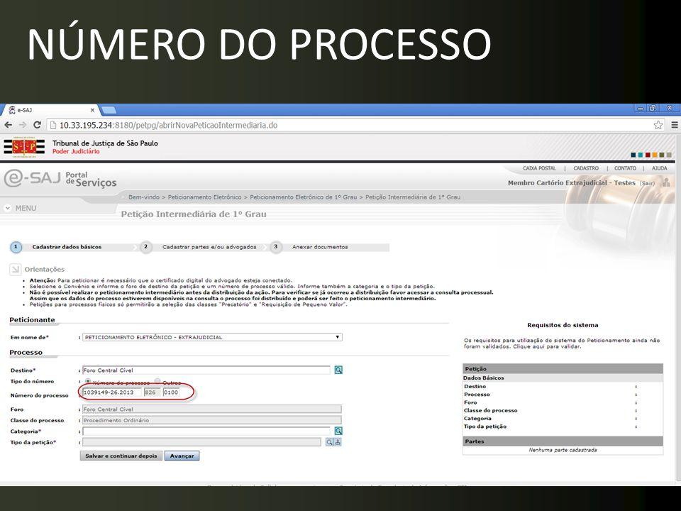 NÚMERO DO PROCESSO