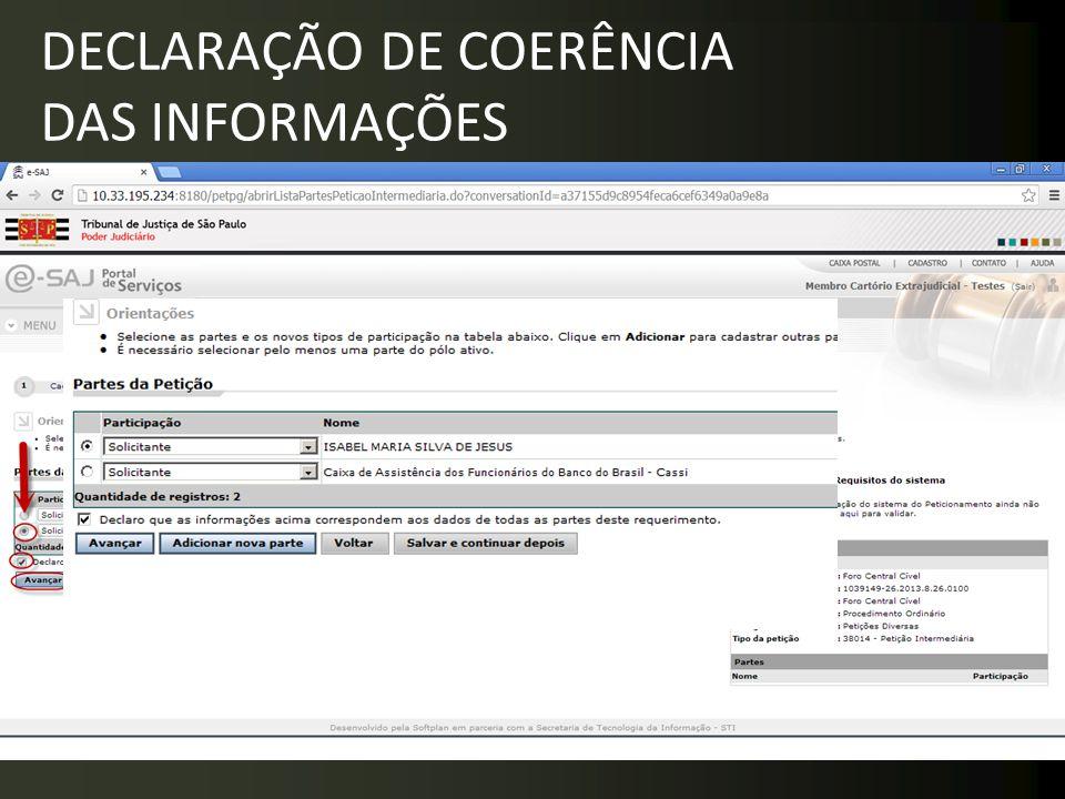 DECLARAÇÃO DE COERÊNCIA