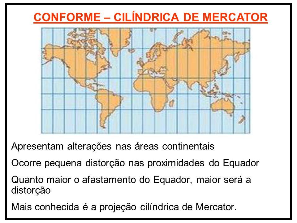CONFORME – CILÍNDRICA DE MERCATOR