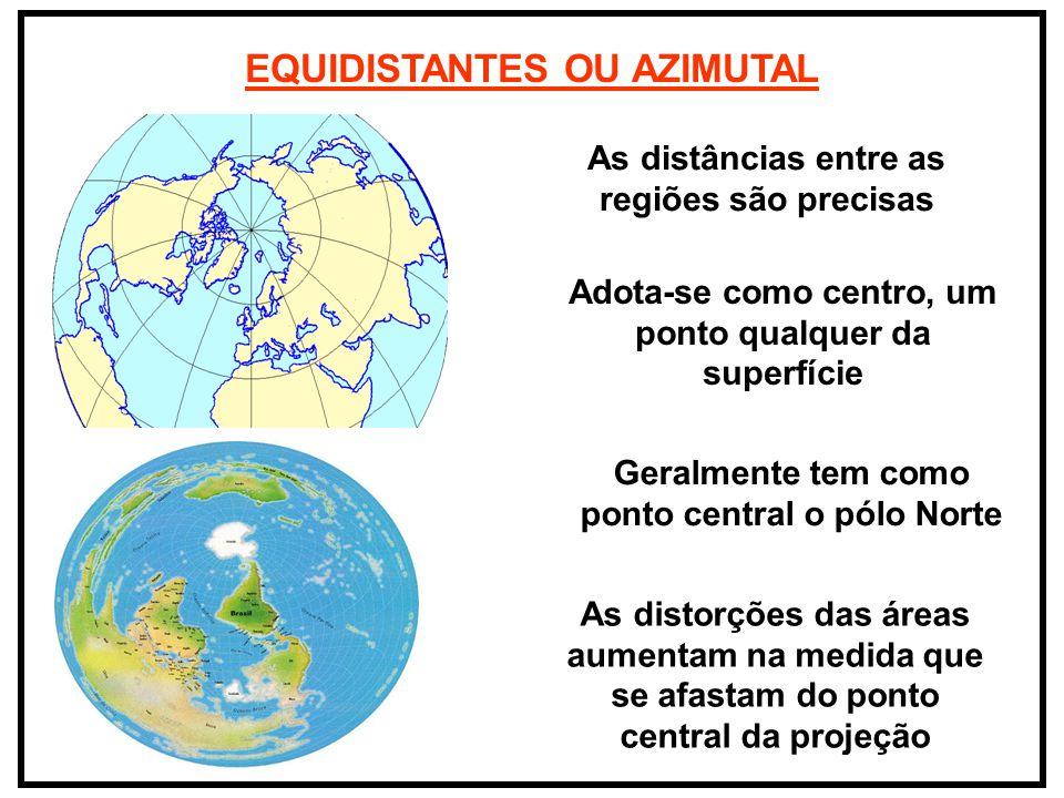 EQUIDISTANTES OU AZIMUTAL