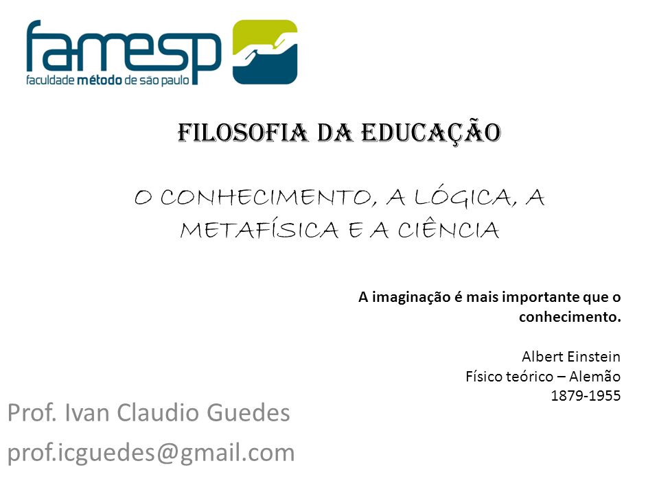 Prof. Ivan Claudio Guedes prof.icguedes@gmail.com