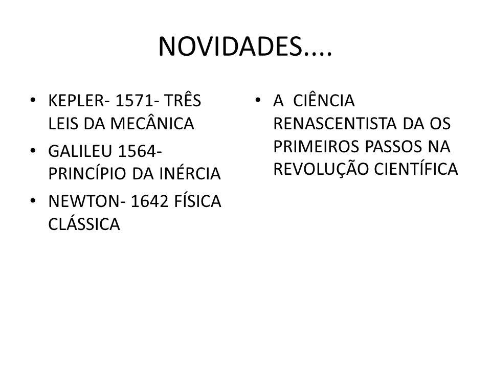 NOVIDADES.... KEPLER- 1571- TRÊS LEIS DA MECÂNICA