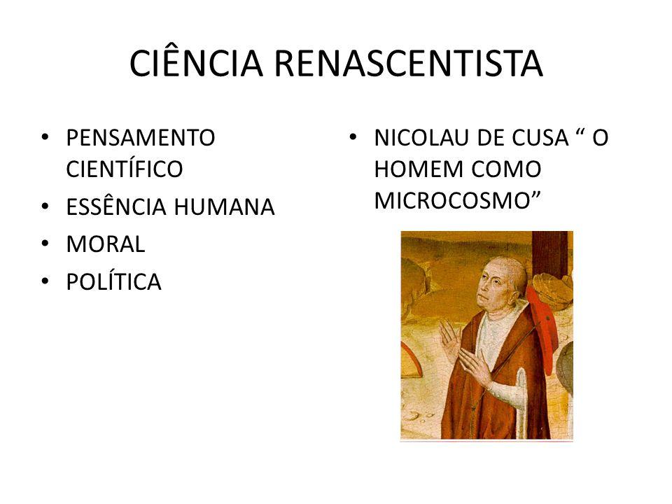 CIÊNCIA RENASCENTISTA