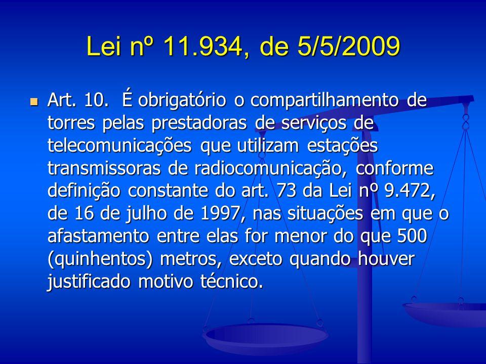 Lei nº 11.934, de 5/5/2009