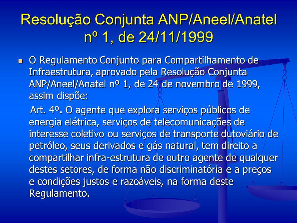 Resolução Conjunta ANP/Aneel/Anatel nº 1, de 24/11/1999