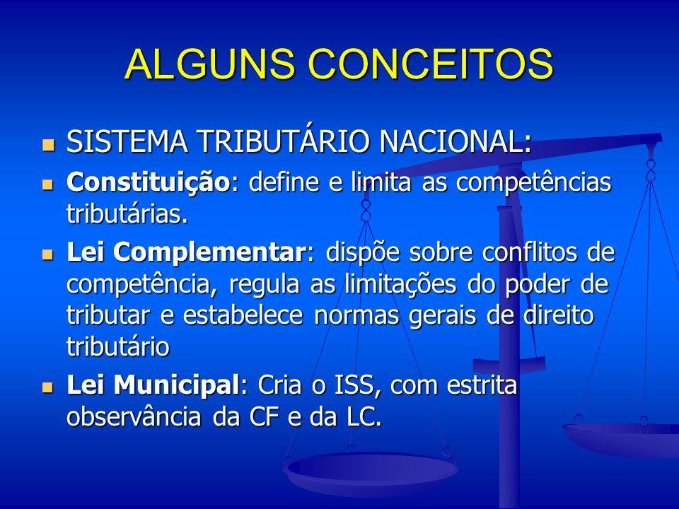 ALGUNS CONCEITOS SISTEMA TRIBUTÁRIO NACIONAL: