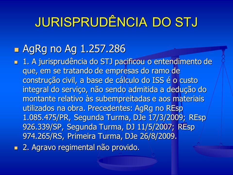 JURISPRUDÊNCIA DO STJ AgRg no Ag 1.257.286