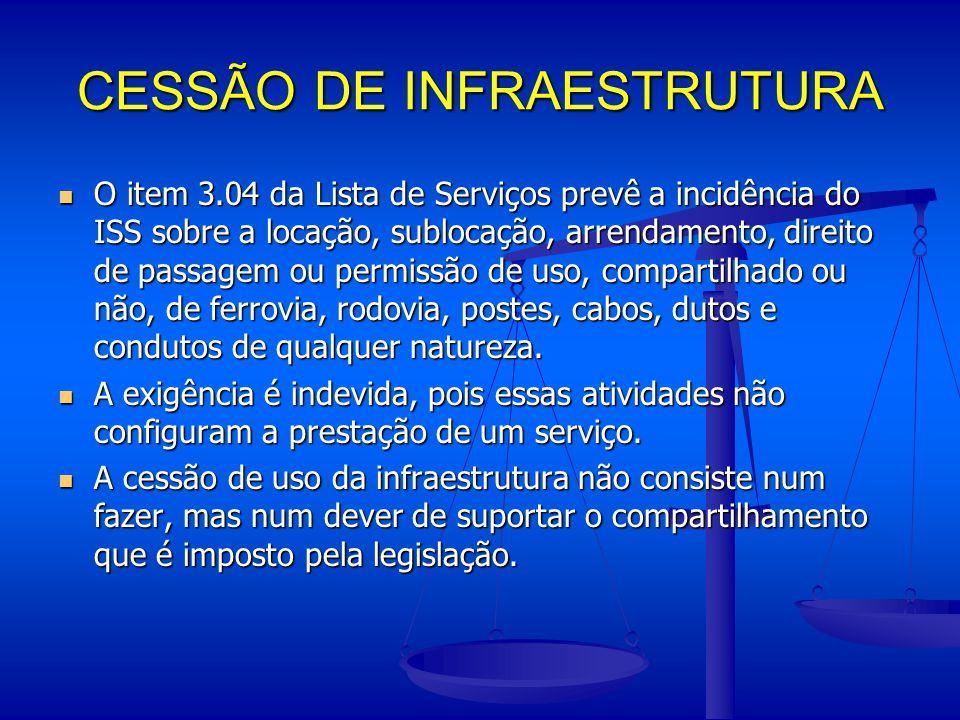 CESSÃO DE INFRAESTRUTURA