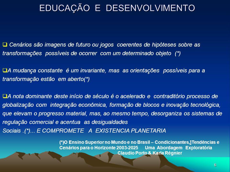 EDUCAÇÃO E DESENVOLVIMENTO