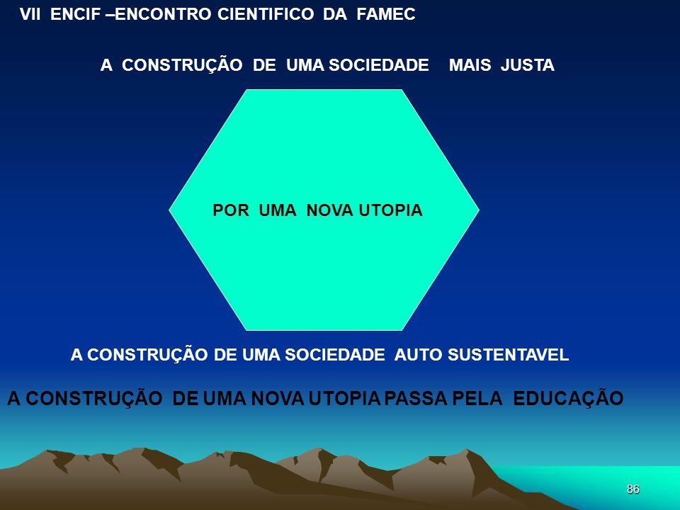 A CONSTRUÇÃO DE UMA NOVA UTOPIA PASSA PELA EDUCAÇÃO