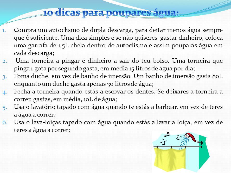 10 dicas para poupares água: