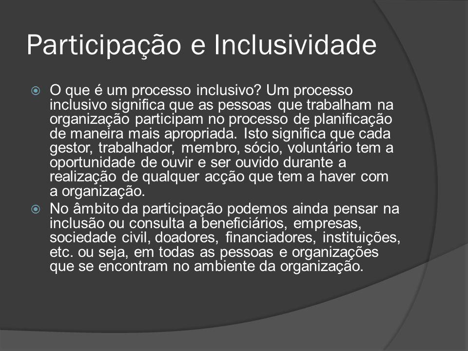 Participação e Inclusividade