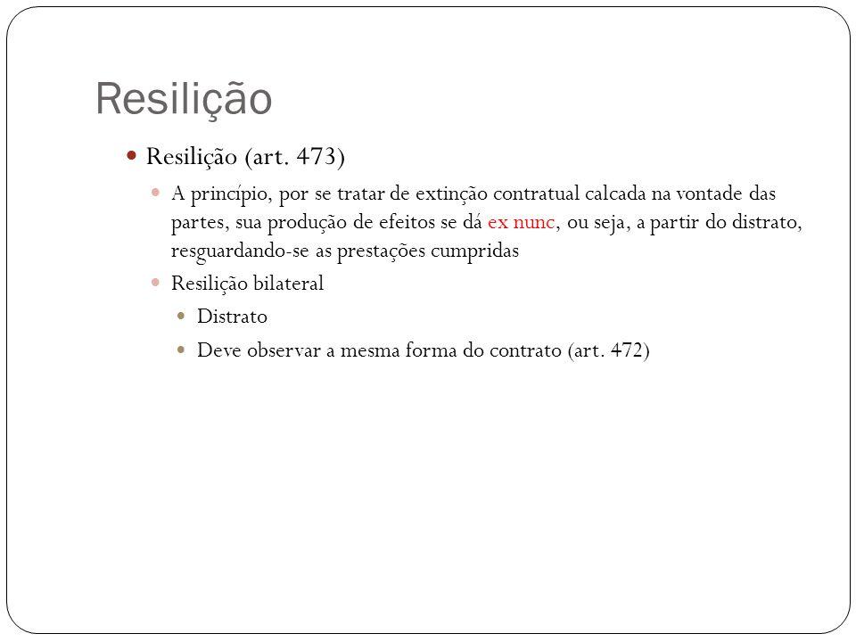 Resilição Resilição (art. 473)