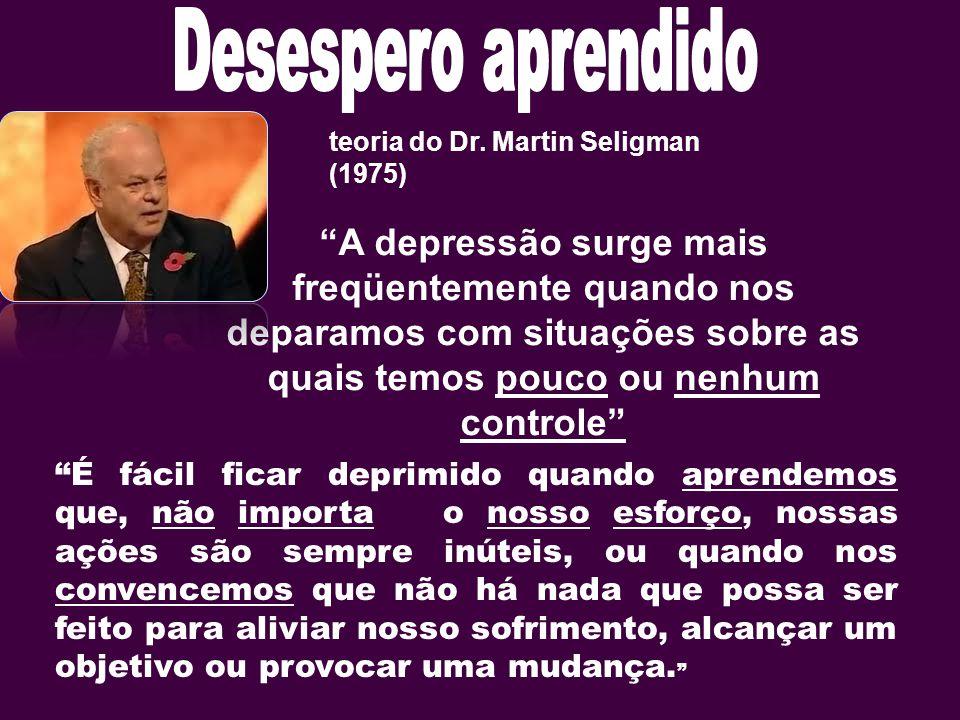 Desespero aprendido teoria do Dr. Martin Seligman (1975)