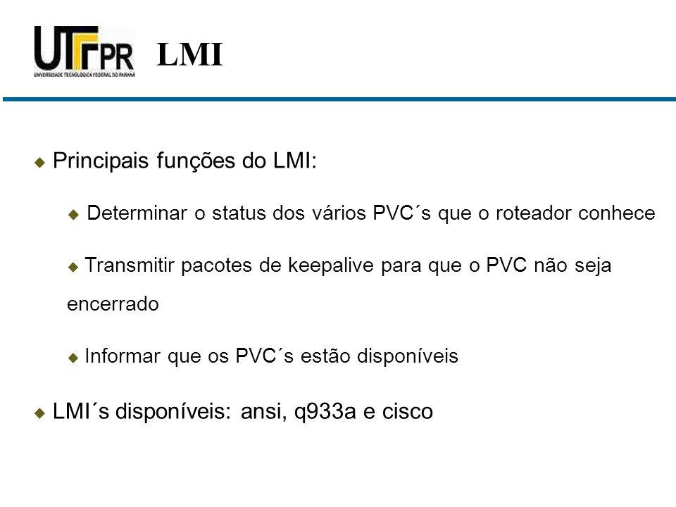 LMI Principais funções do LMI: