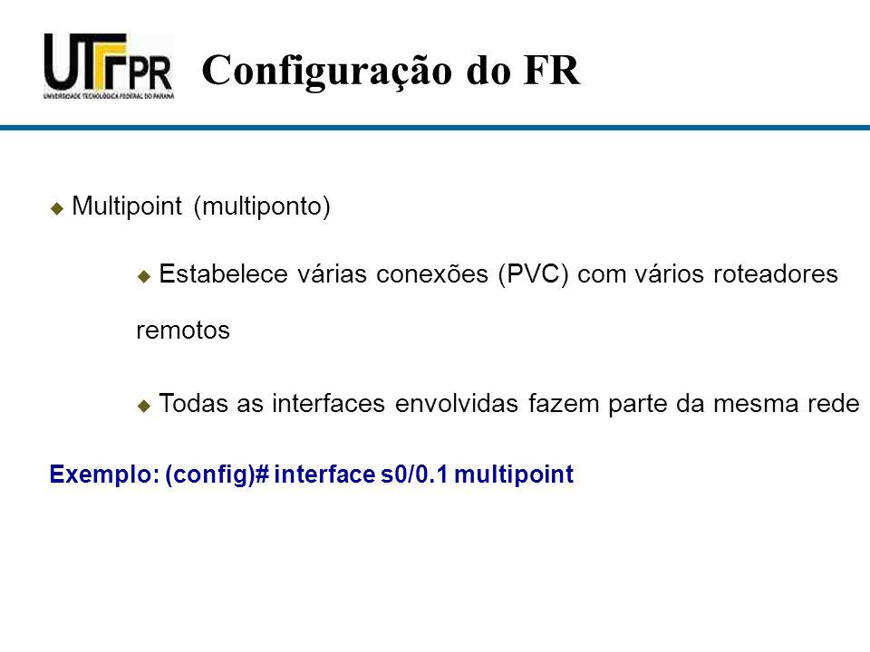 Configuração do FR Multipoint (multiponto)